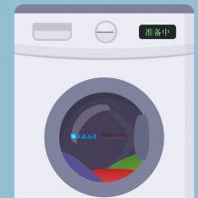 云洗衣机HTML5源码 朋友圈在线娱乐洗衣服